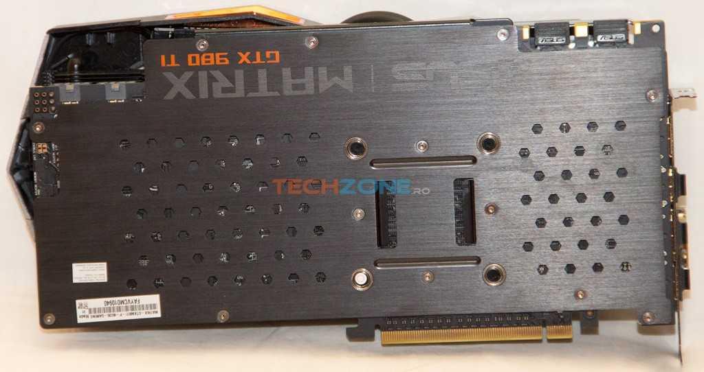 Asus 980 Ti Matrix backplate