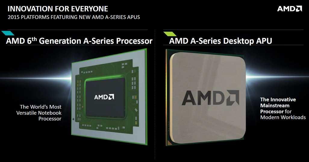 AMD APU 6th gen Carizo