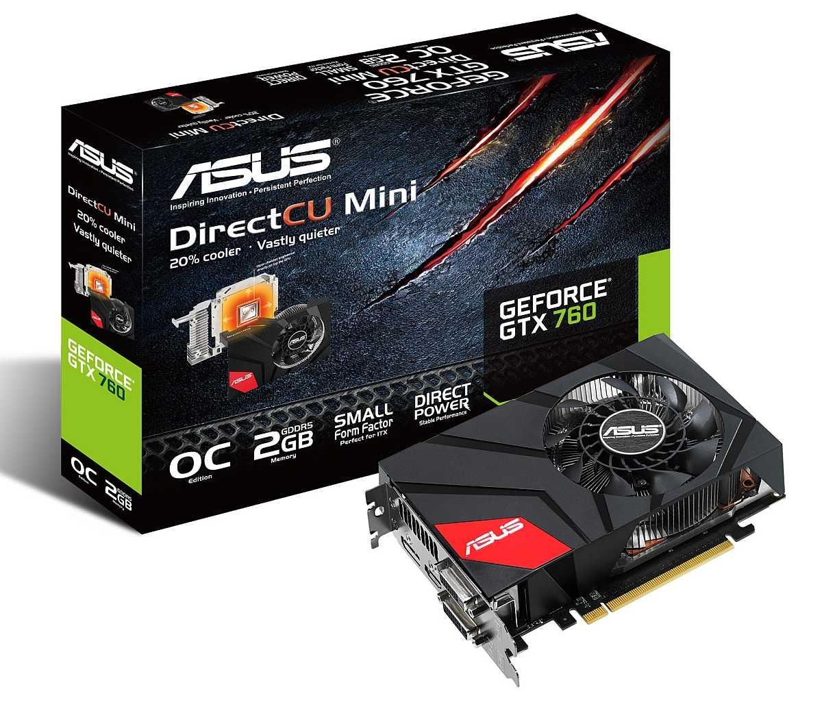 Asus Geforce GTX 760 DirectCU mini box