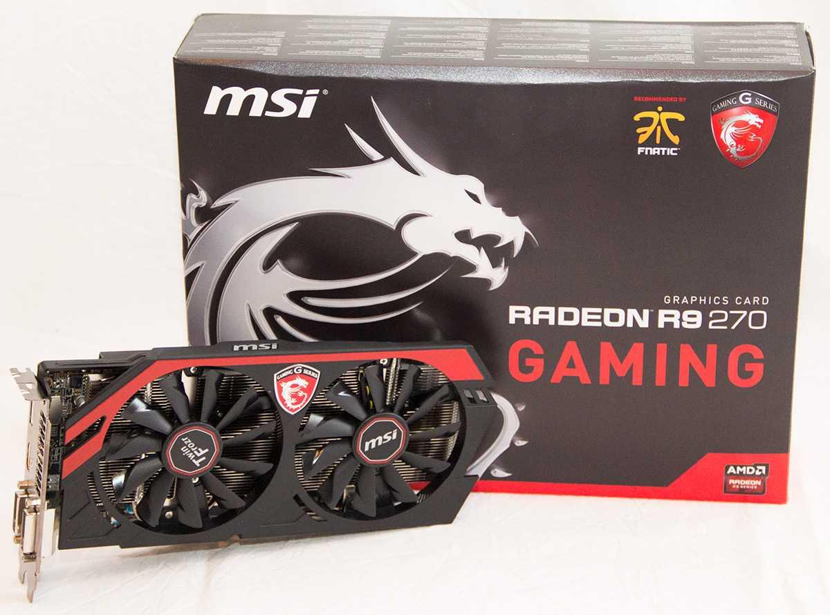 MSI R9 270 Gaming 2G set