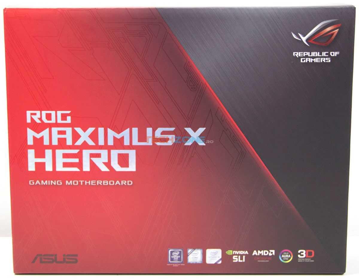 Asus Maximus X Hero set