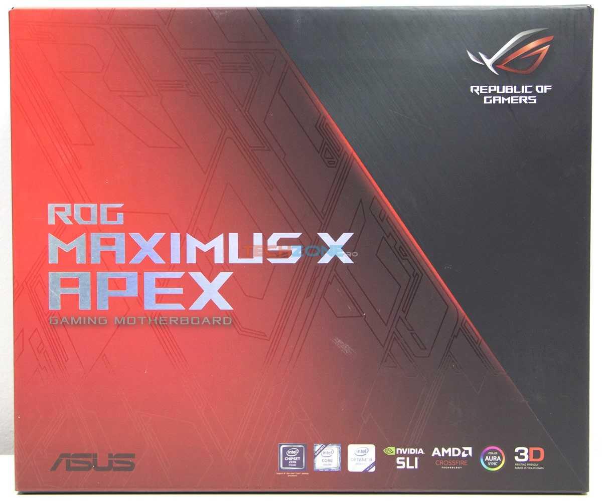 Asus Maximus X Apex box