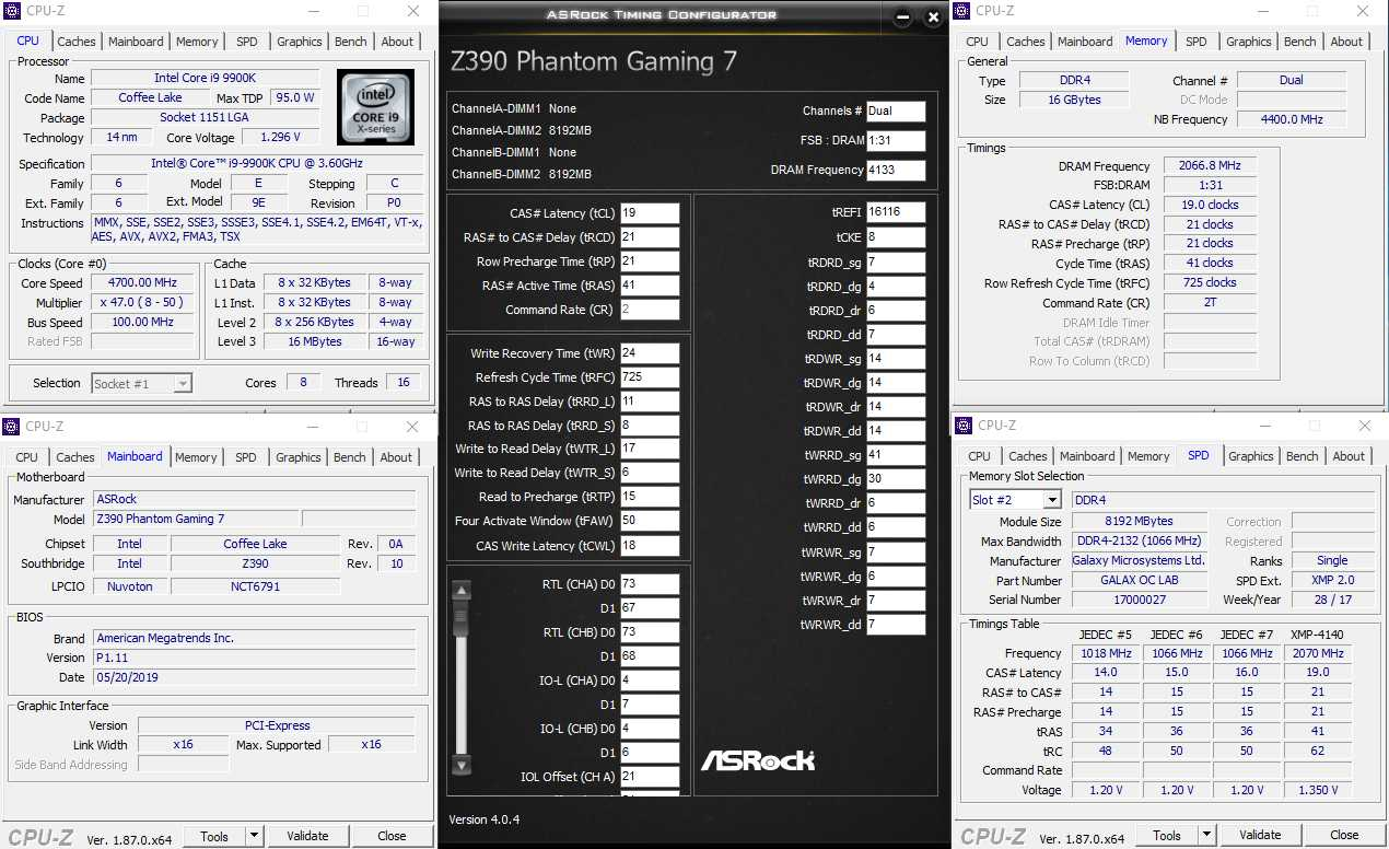 ASRock Z390 Phantom Gaming7 XMP