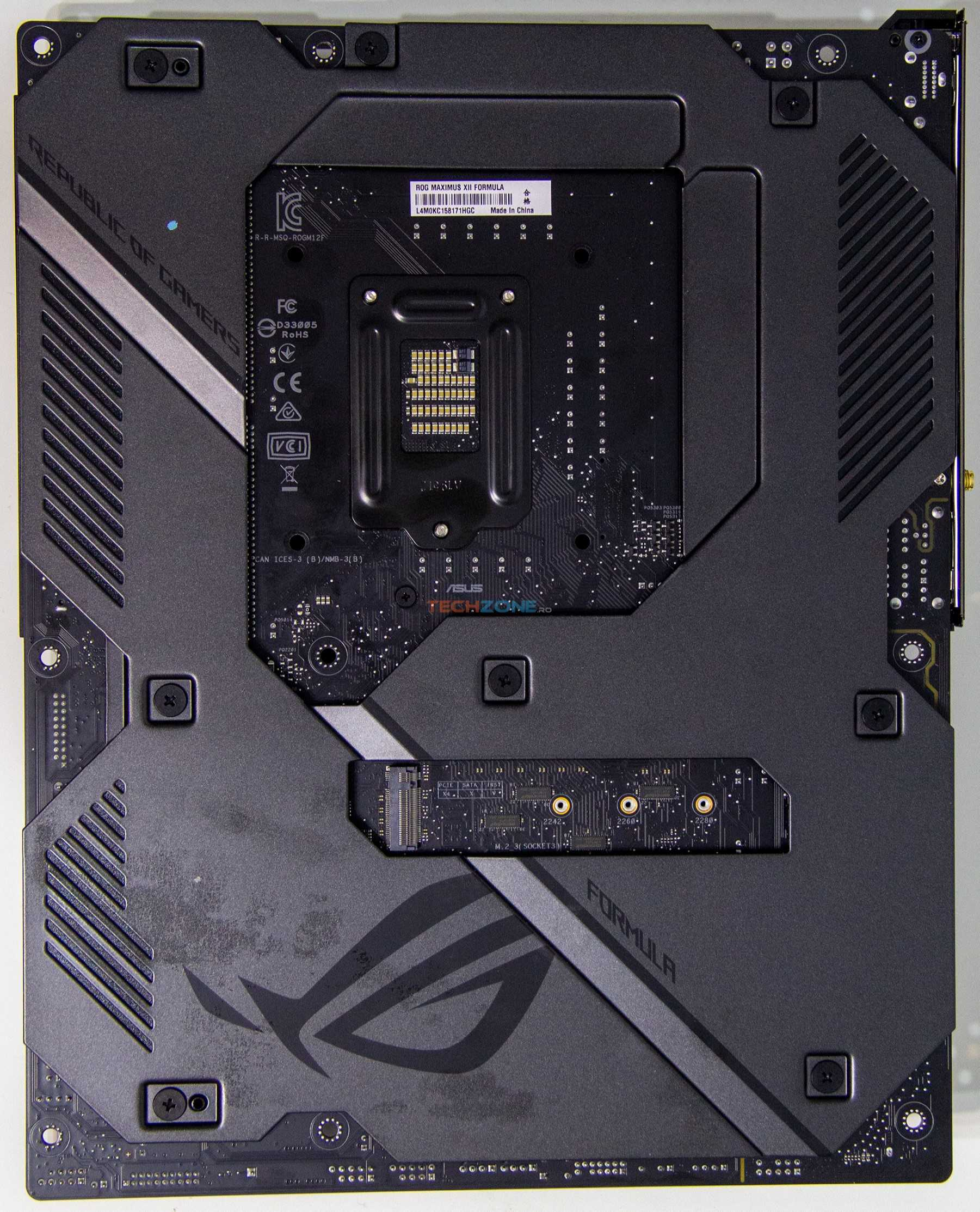 Asus Max XII Formula backplate