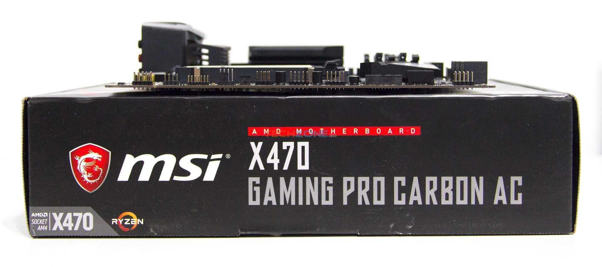 MSI X470 Gaming Pro Carbon AC set