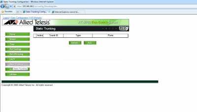 Interfata web - static trunking