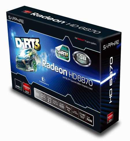 Sapphire HD 6870 Dirt3 box
