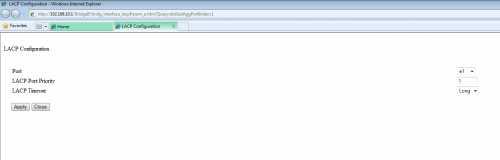 layer1 LACP modify