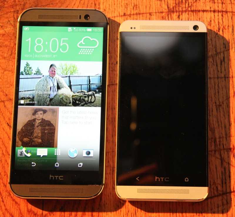 HTC One M8 vs HTC One M7