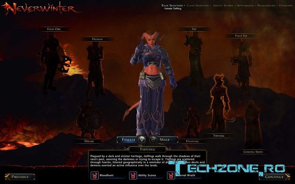 Neverwinter MMO - Character Creation