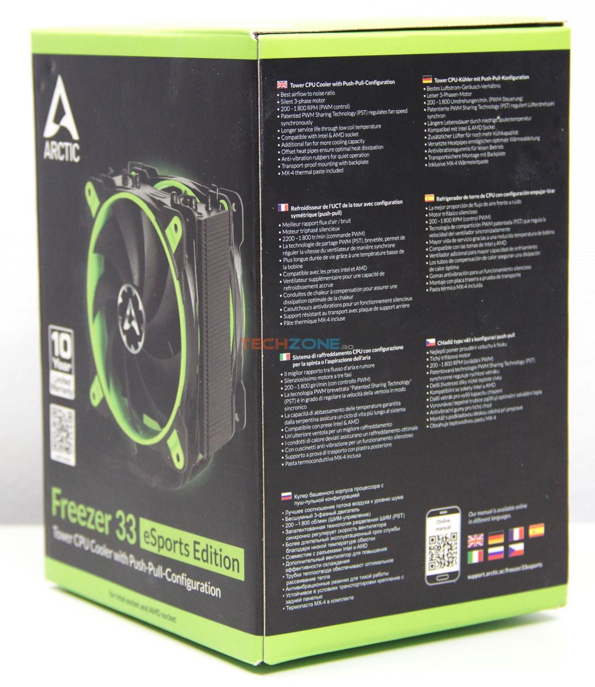 Arctic Freezer33 eSports box right