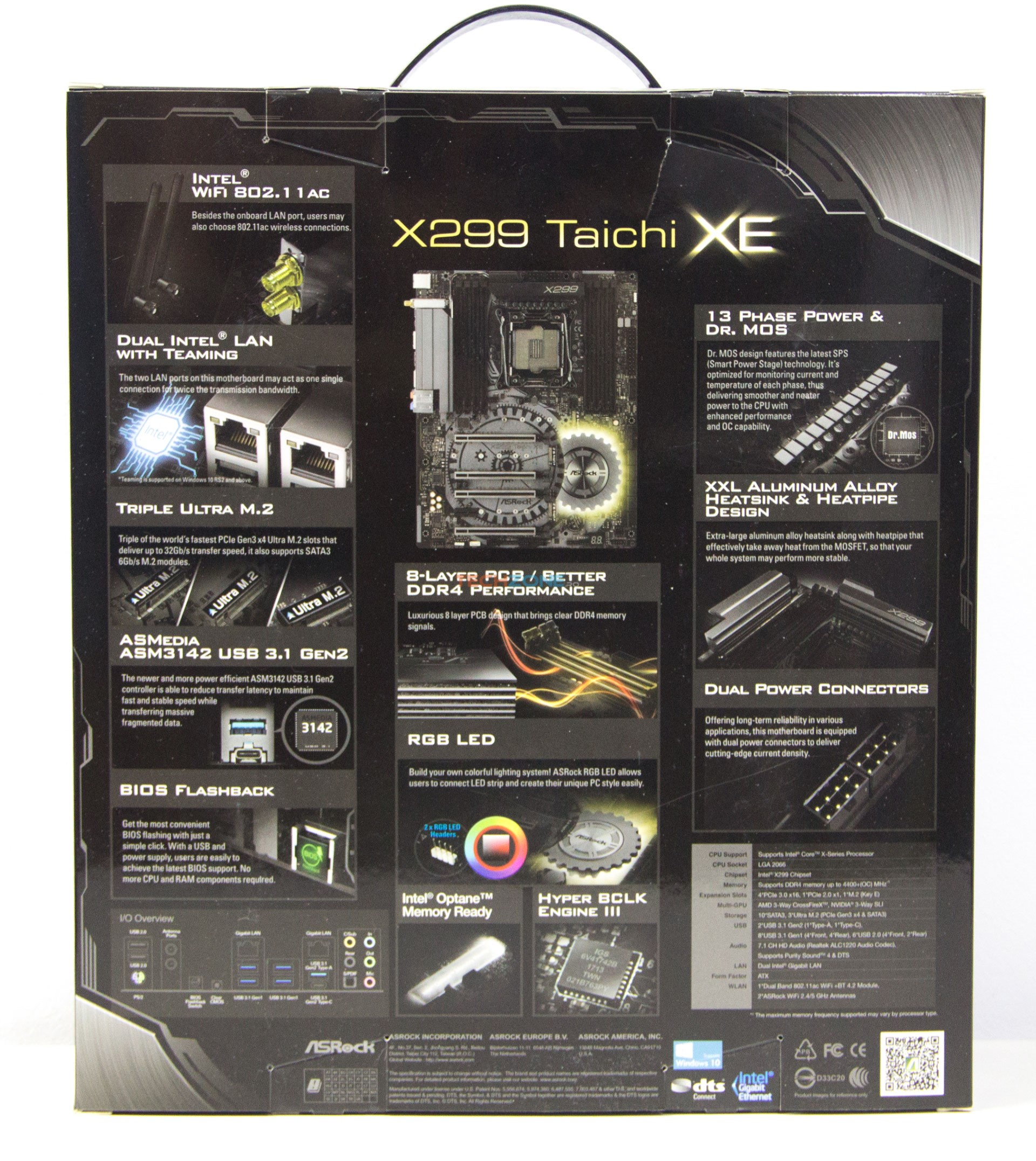 ASRock X299 Taichi XE box back