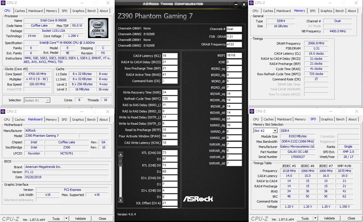 ASRock Z390 Phantom Gaming7 XMP