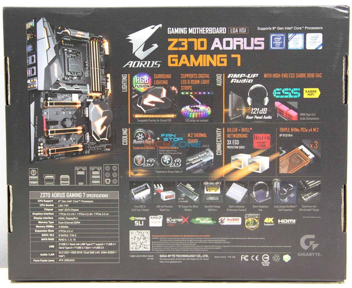 Gigabyte Z370 Gaming7 box back