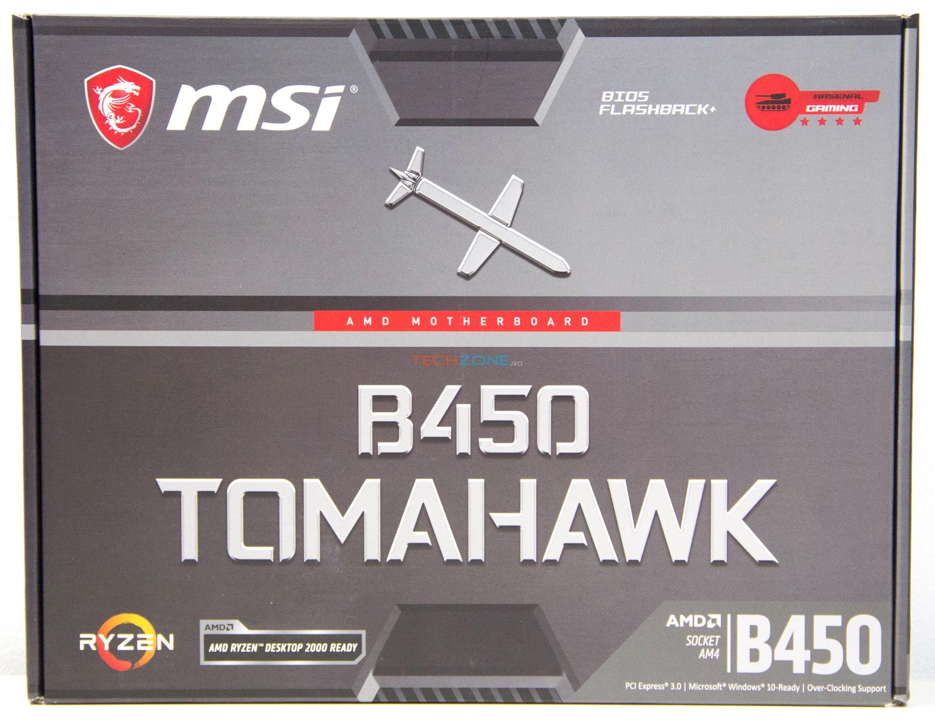 MSI B450 Tomahawk box