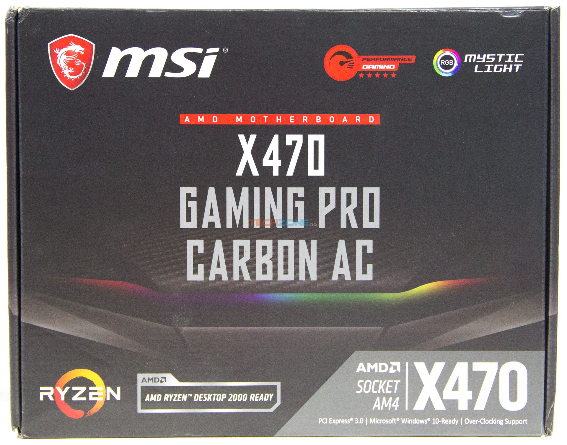MSI X470 Gaming Pro Carbon AC box