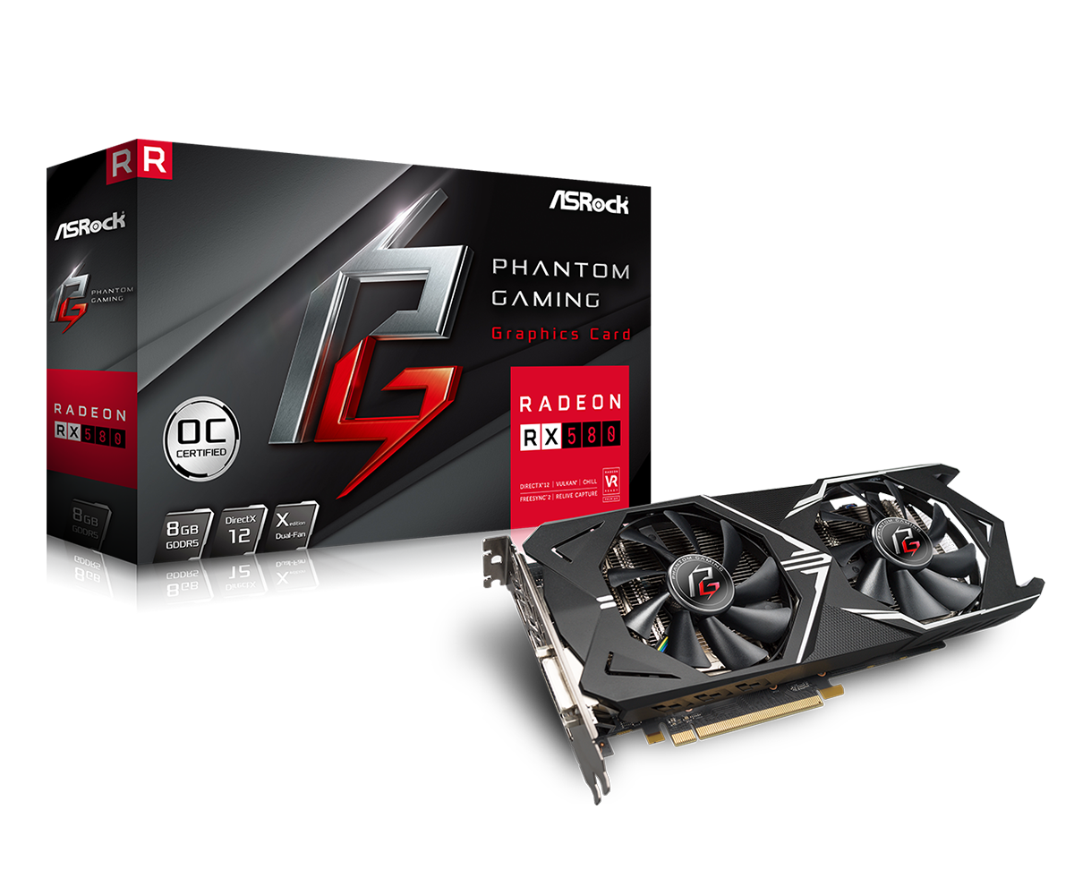ASRock RX 580 Phantom Gaming X OC set