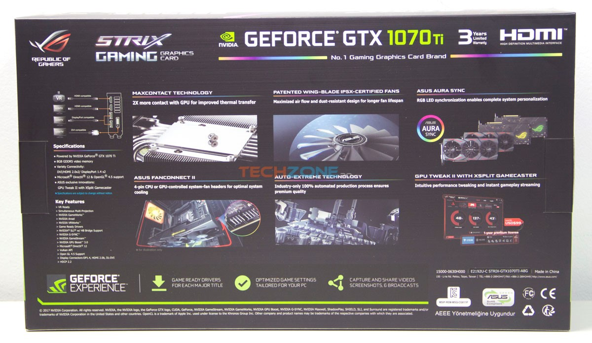 Asus GTX 1070Ti Strix A8G box back