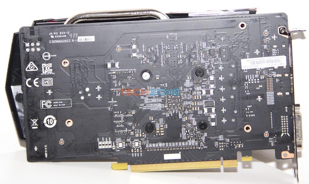 MSI GTX 1050Ti GamingX back