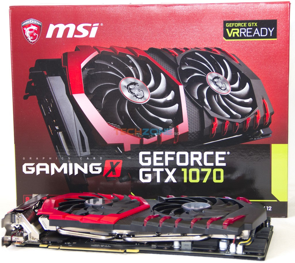 MSI GTX 1070 Gaming X set