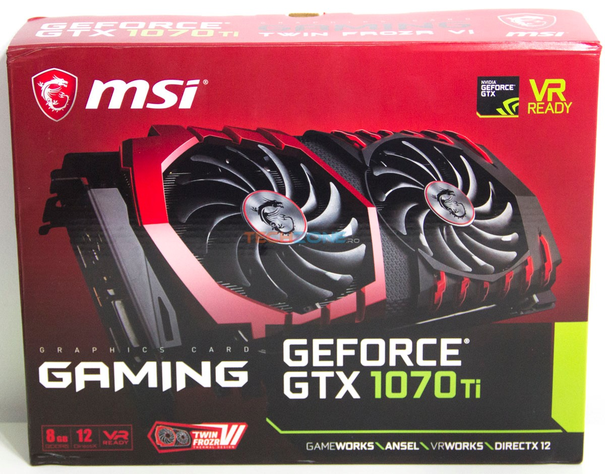 MSI GTX 1070Ti Gaming box
