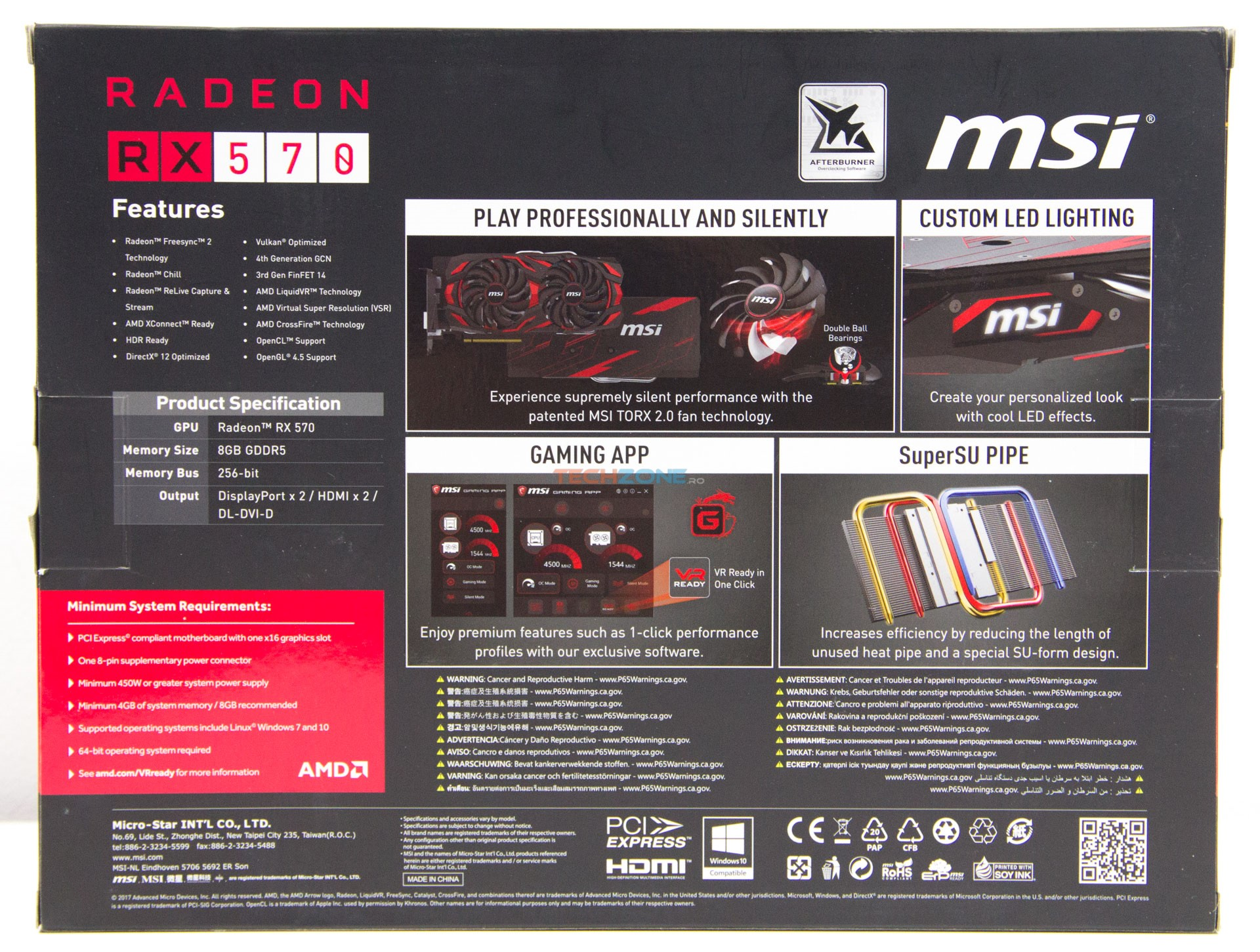 MSI RX 570 Mech2 box back