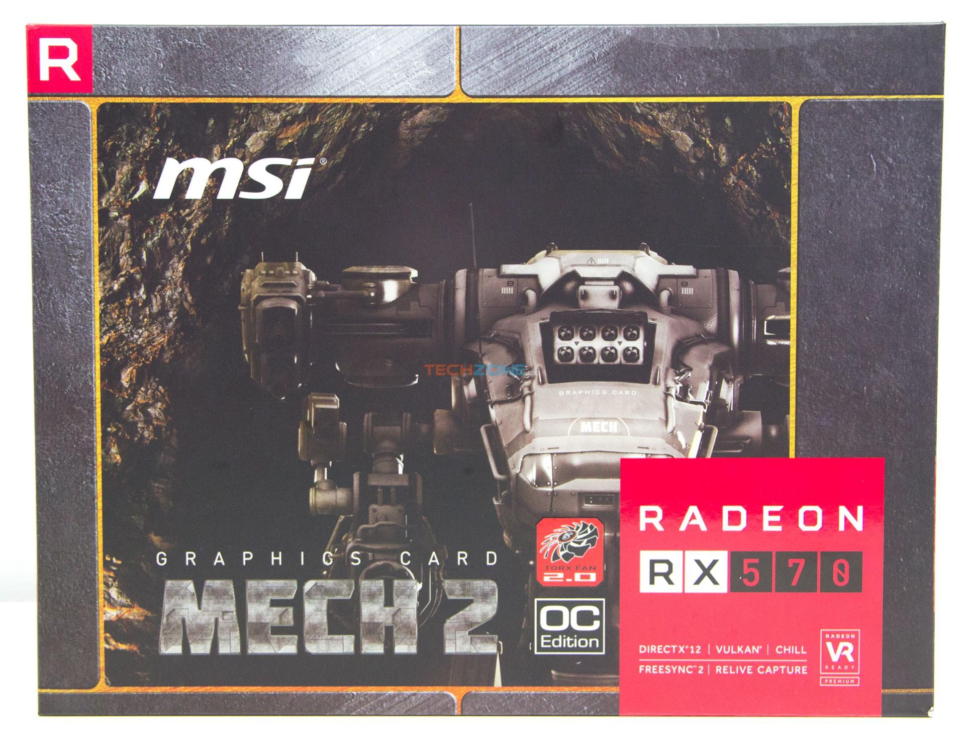 MSI RX 570 Mech2 box